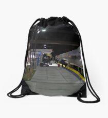 THE TRAIN STATION Drawstring Bag