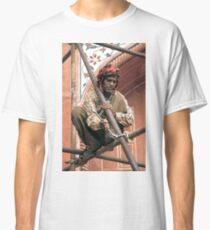 Building scaffolding in Delhi, India Classic T-Shirt