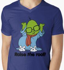 Muppet Babies - Bunsen - Raise The Roof - Black Font Mens V-Neck T-Shirt
