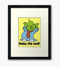 Muppet Babies - Bunsen - Raise The Roof - Black Font Framed Print