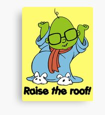 Muppet Babies - Bunsen - Raise The Roof - Black Font Canvas Print