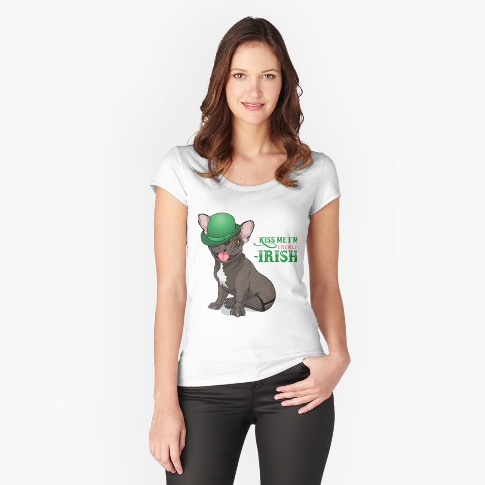 Kiss me I'm French-Irish  Women's Fitted Scoop T-Shirt Front