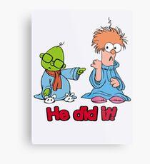 Muppet Babies - Bunsen & Beeker - He Did It! Metal Print