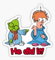 Muppet Babies - Bunsen & Beeker - He Did It! Sticker