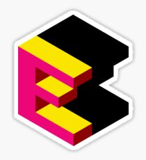 Letter E Isometric Graphic Sticker