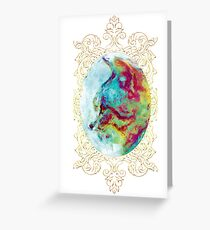Vintage Oil Paint Cat Greeting Card