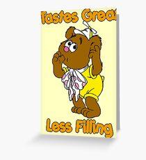 Muppet Babies - Fozzie Bear - Tastes Great - Sucking Thumb Greeting Card