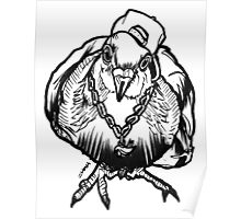 Homie Pigeon (Black & White) RedBubbleArtParty Poster