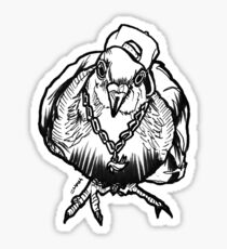 Homie Pigeon (Black & White) RedBubbleArtParty Sticker