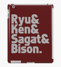 Ryu & Ken & Sagat & Bison funny nerd geek geeky iPad Case/Skin