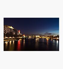British Symbols and Landmarks - Silky River Thames at Night, Complete with the Royal Family Photographic Print