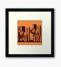 Cat in the Big City Framed Print