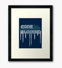 Code Blooded Framed Print