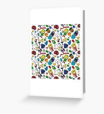 Cute Legend of Zelda pattern!!! Greeting Card