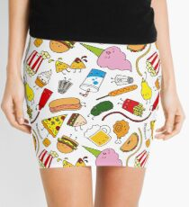 Kawaii junk food pattern! Mini Skirt