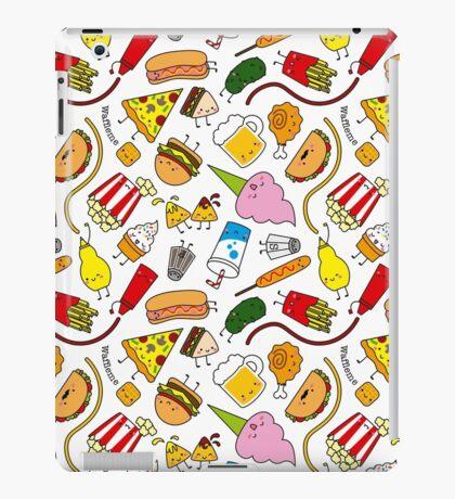 Kawaii junk food pattern! iPad Case/Skin