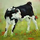 Elly The Calf And Friend by Margaret Stockdale