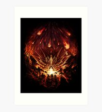 Chrono Trigger: Fire Rains from the Heavens [Chronicles of Time] Art Print