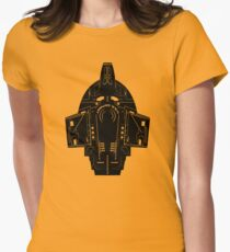 Star Trek Stencil - USS Defiant Women's Fitted T-Shirt