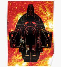 Star Trek Stencil - USS Defiant Poster
