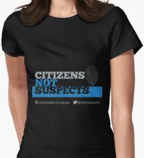 Citizens Not Suspects Women's Fitted T-Shirt