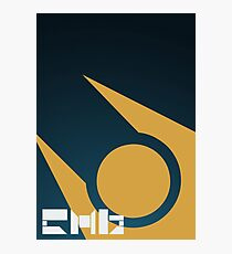SImple HL2 Combine Poster - Blue & Gold Photographic Print