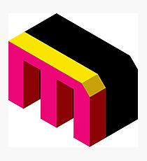 Letter M Isometric Graphic Photographic Print