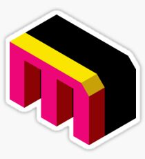 Letter M Isometric Graphic Sticker