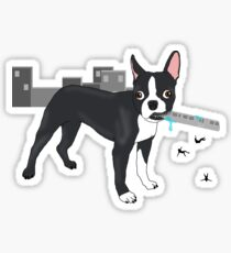 Attack of the Colossal Boston Terrier!!! Sticker