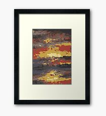 Abstract Sunset Water 1 Framed Print