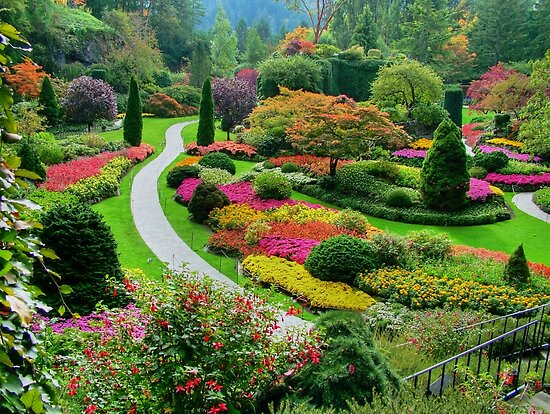 Butchart Gardens, Victoria, Canada, in Autumn\
