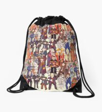 The party doesn't start until the Doctor walks in...twelve times Drawstring Bag