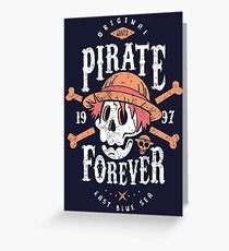 Wanted Pirate Forever Greeting Card