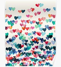Heart Connections - Watercolor Painting Poster