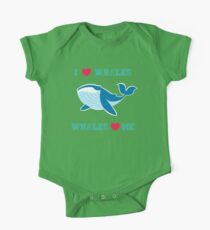 I love whales,whales loves me One Piece - Short Sleeve
