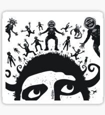 Homme planète Sticker