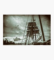 Stormy Sunset Sails - Sydney Harbour - Australia Photographic Print
