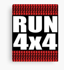 RUN 4x4 tread Canvas Print