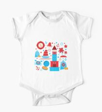 Sea and pirate icons Kids Clothes