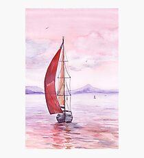 Sailing toward sunset Photographic Print