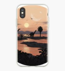 Vinilo o funda para iPhone Playa jurásica