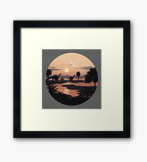 Jurassic Beach Framed Print