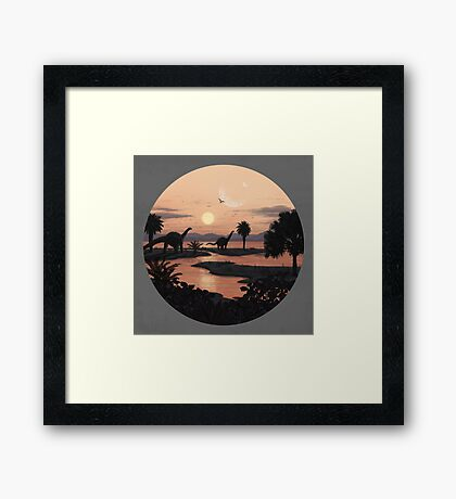 Jurassic Beach Framed Print