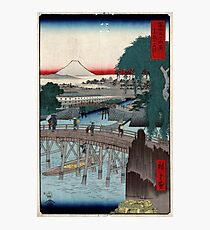Ikkoku Bridge In the Eastern Capitol - Hiroshige Ando - 1858 - woodcut Photographic Print