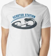 Scooter Diving Club emblem Mens V-Neck T-Shirt