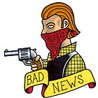 Bad News Tattoo Flash by dead82