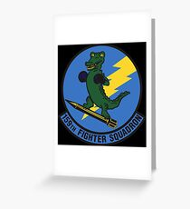 159th Fighter Squadron Emblem Greeting Card