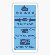 Papers, Please - Love Note Sticker