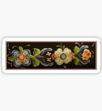 Nordic Heritage Folk Art Flower Power Kirsten Designs Sticker