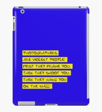 dear photographers! iPad Case/Skin